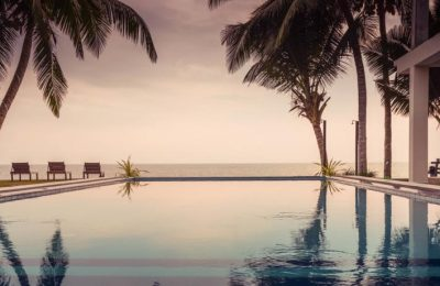infinity pool sea view sapphire beachfront hotel Hikkaduwa Sri Lanka