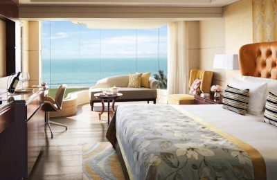 Luxury hotel room with ocean view Taj Samudra Hotel Galle Face Colombo Sri Lanka